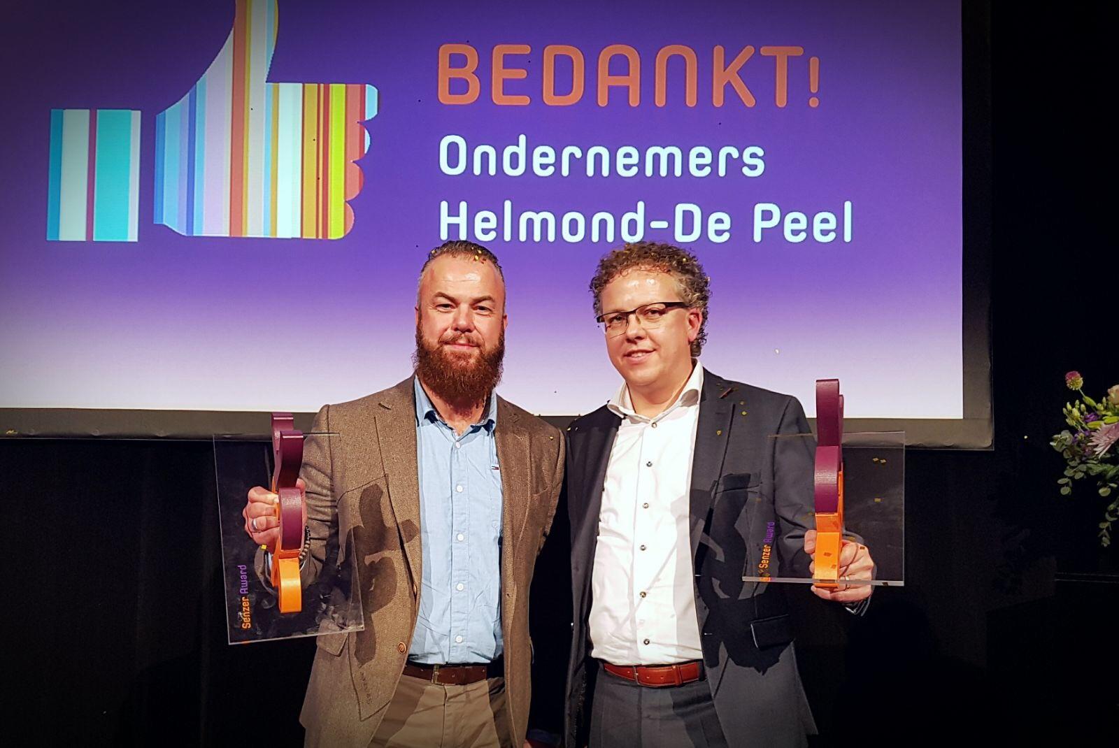 Natuurpoort Vennenhorst en Van den Broek Logistics winnaars Senzer Award 2017